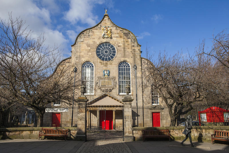 Canongate Kirk in Edinburgh. A view of the beautiful Canongate Kirk situated on Canongate along the Royal Mile in Edinburgh, Scotland royalty free stock image