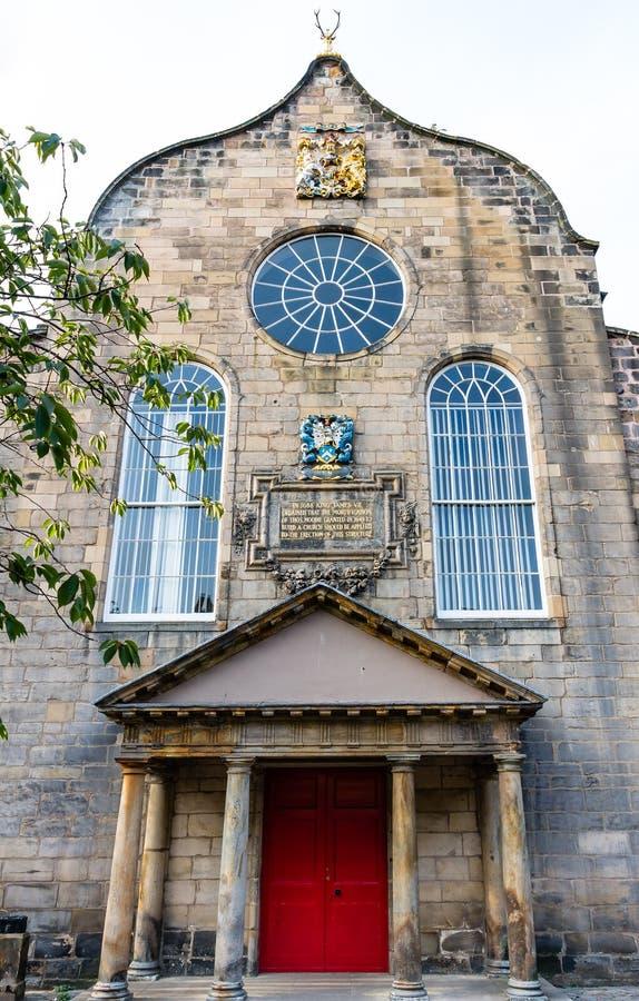 Canongate Kirk em Edimburgo, Escócia fotos de stock