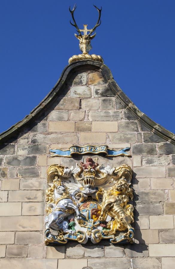 Canongate Kirk i Edinburg royaltyfria foton