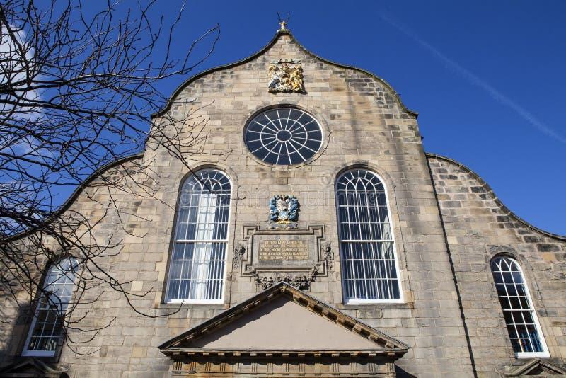Canongate Kirk i Edinburg arkivfoto