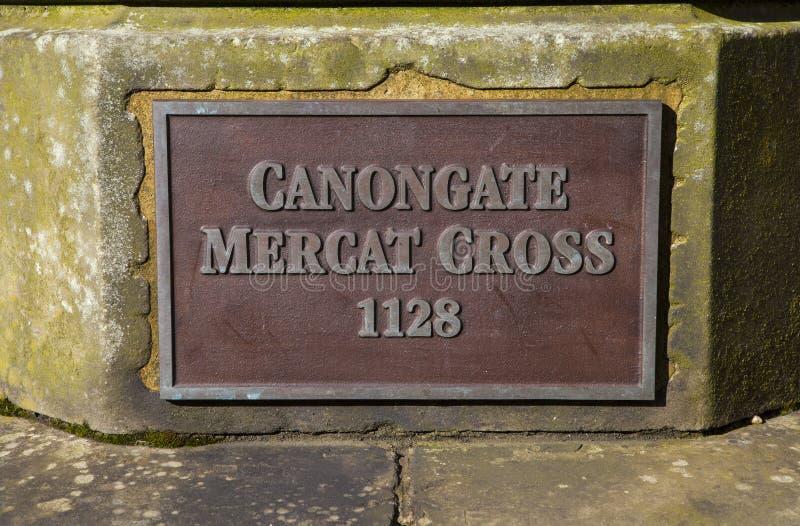 Canongate Mercat platta royaltyfri fotografi