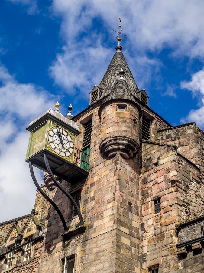 Canongate Tolbooth, Edinburg royaltyfri bild