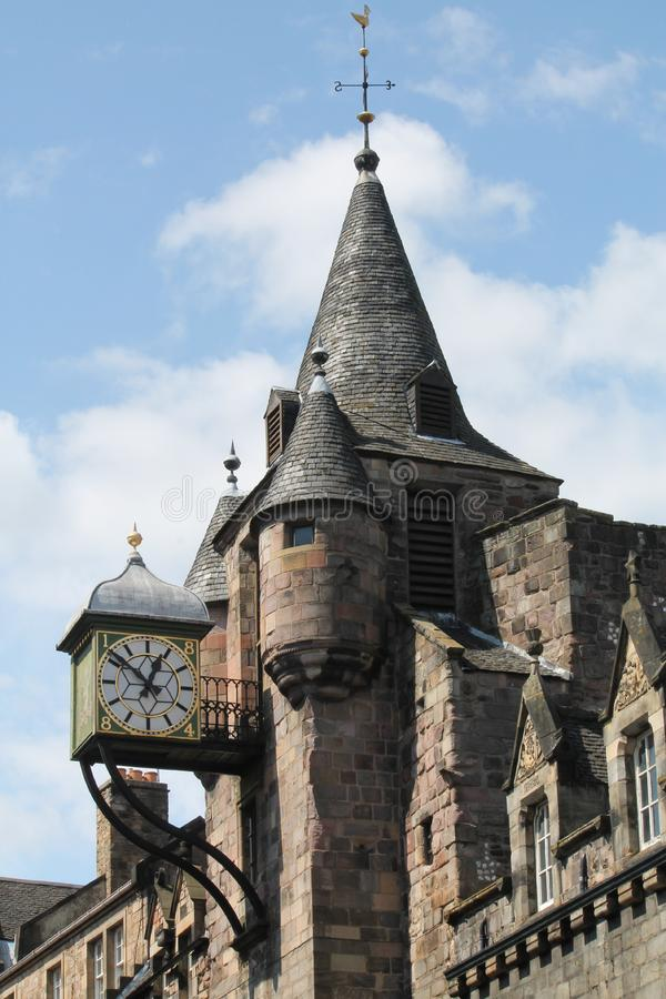 Canongate Tolbooth in Edinburgh royalty free stock photography