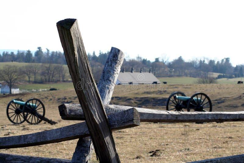 Canoni di guerra civile fotografie stock