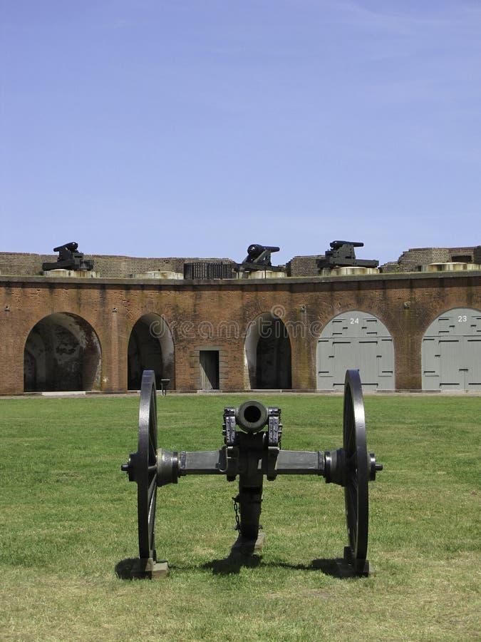 Canoni forti di Pulaski immagini stock libere da diritti