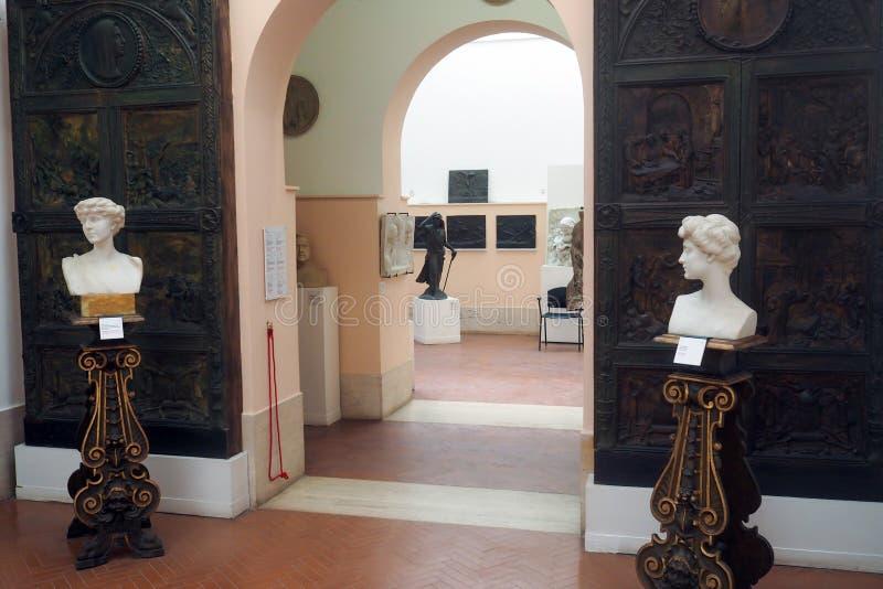 Canonicamuseum in de Tuinen van Villaborghese in Rome, Italië stock foto