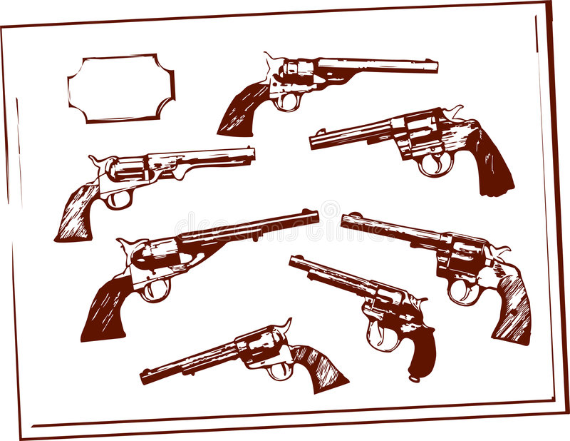 Canons illustration stock