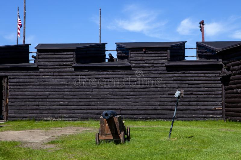 The Canons along the wall royalty free stock images