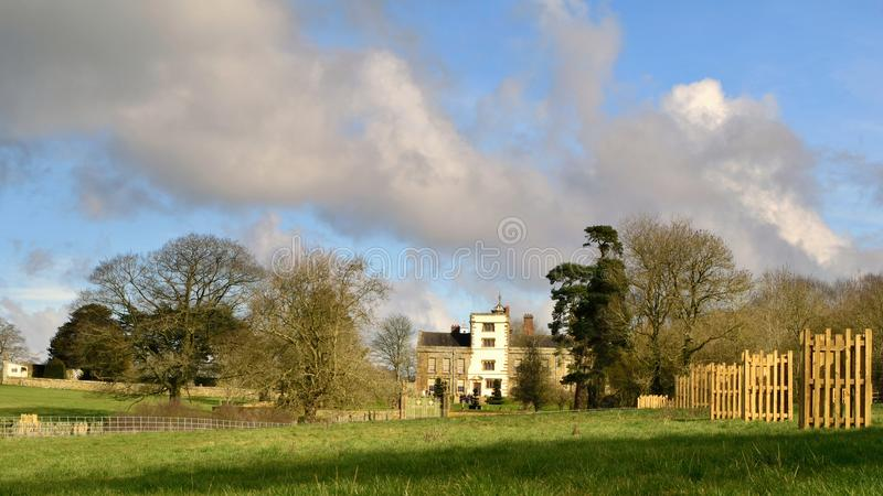 Canons Ashby Manor stock image