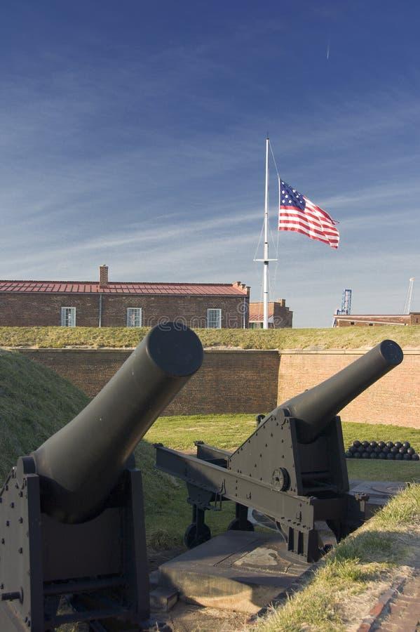Canons au fort McHenry photos libres de droits