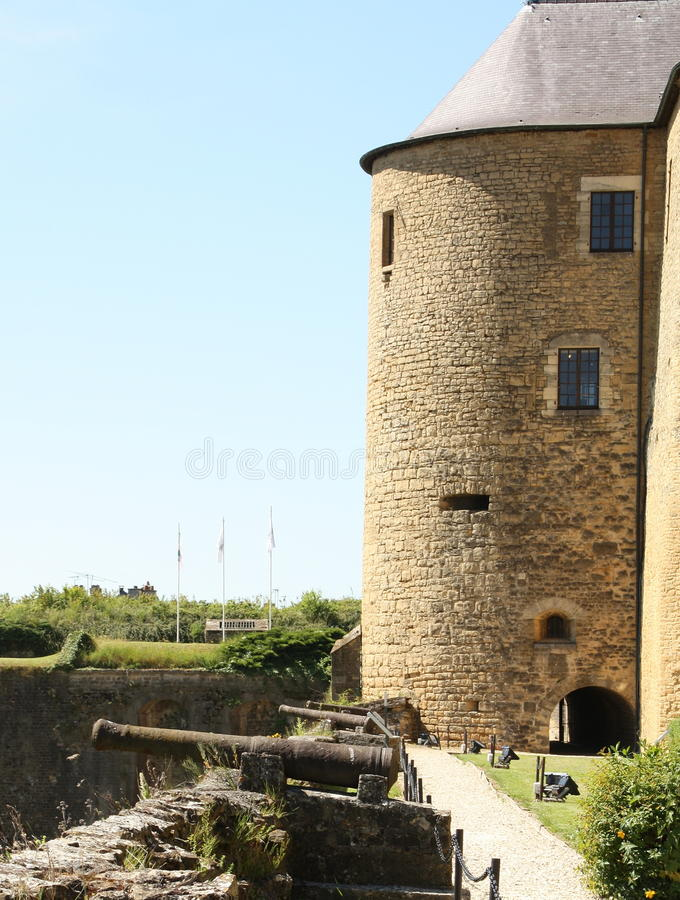 Canons and castle royalty free stock images