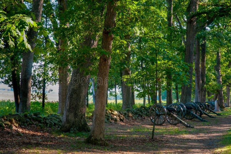 Canons confédérés sur le séminaire Ridge photos stock