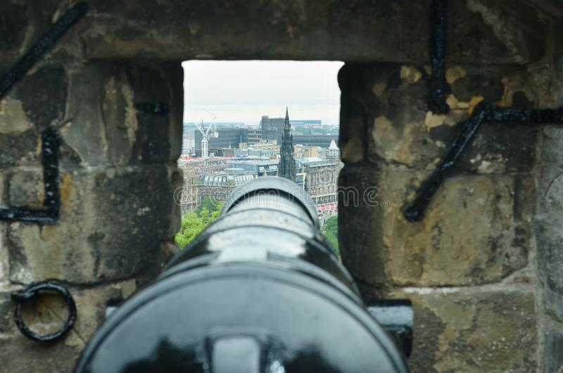 Canons d'Edimbourg images stock
