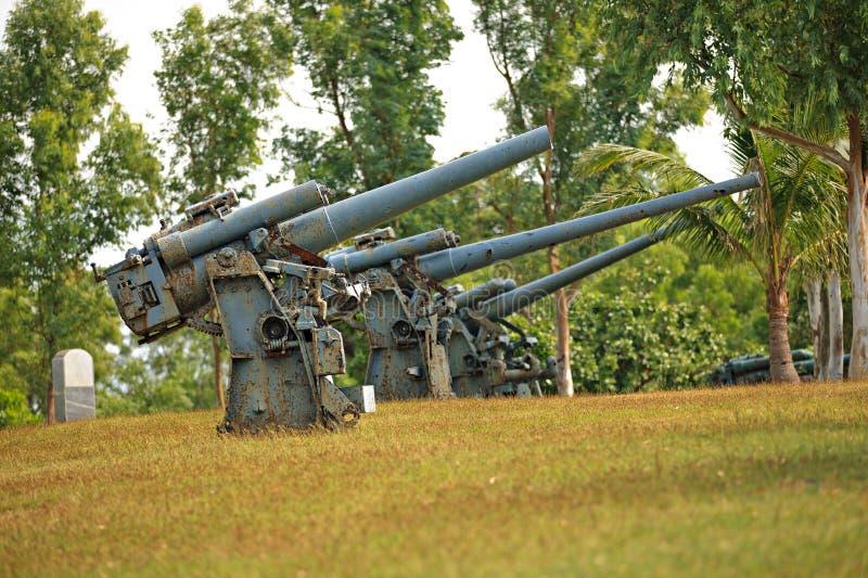 Canons de batterie sur l'île de Corregidor photos stock