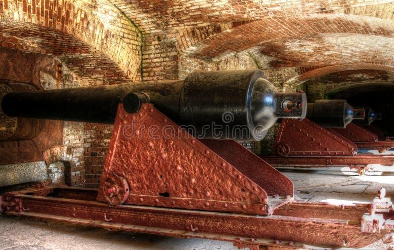 Canons de fort Sumter photographie stock libre de droits