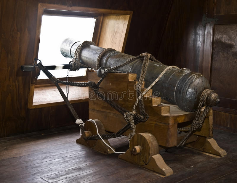 Canons de Galleon de XVIIème siècle photo stock