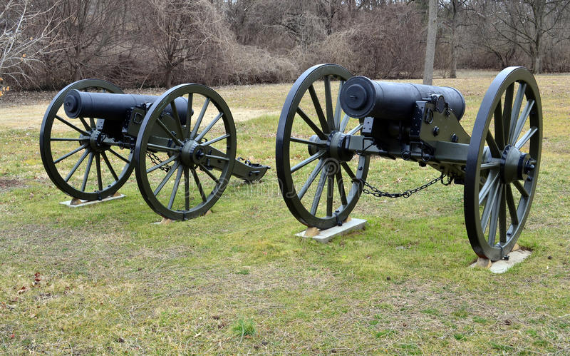 Canons de guerre civile image libre de droits