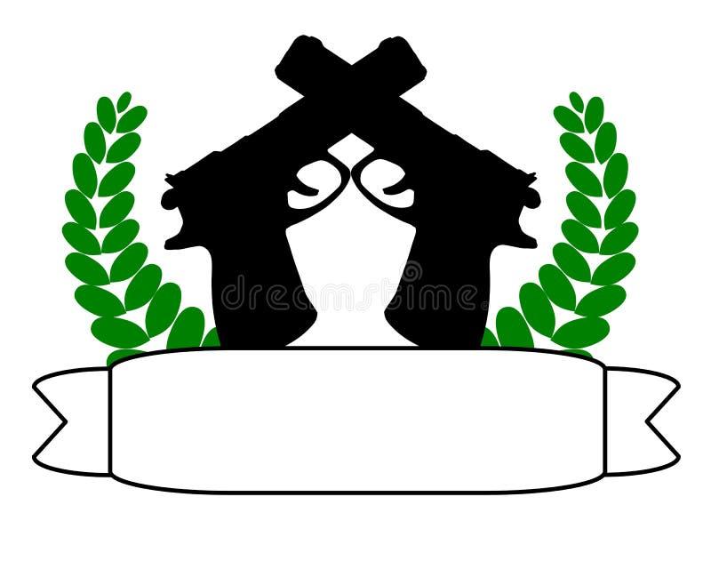 Canons et drapeau illustration stock