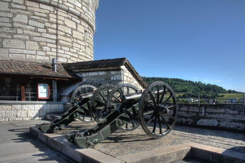 Download Canons On The Munot Fort, Schaffhasuen, Switzerlan Royalty Free Stock Image - Image: 22345136