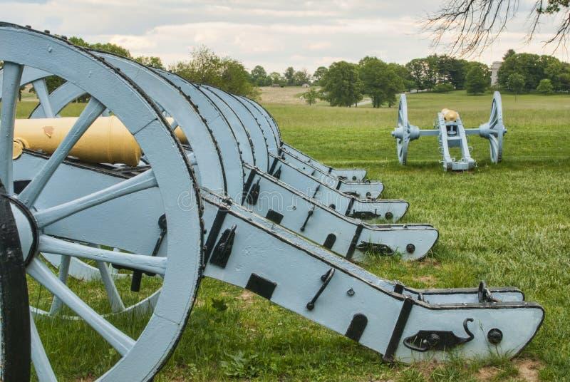 Canons révolutionnaires de guerre images stock