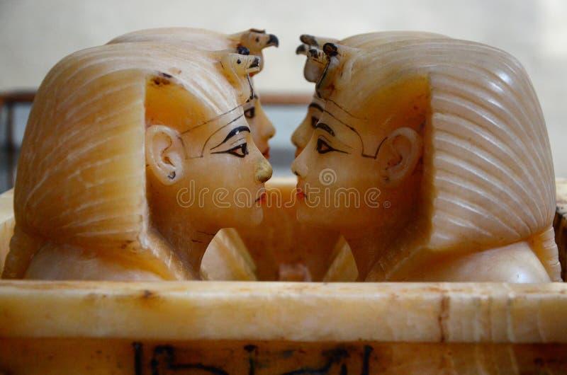 Canopic-Gläser des Pharaos Tutankhamun lizenzfreie stockbilder