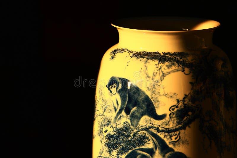 Canopic słojów szczegóły, Jingdezhen Chiny zdjęcia stock
