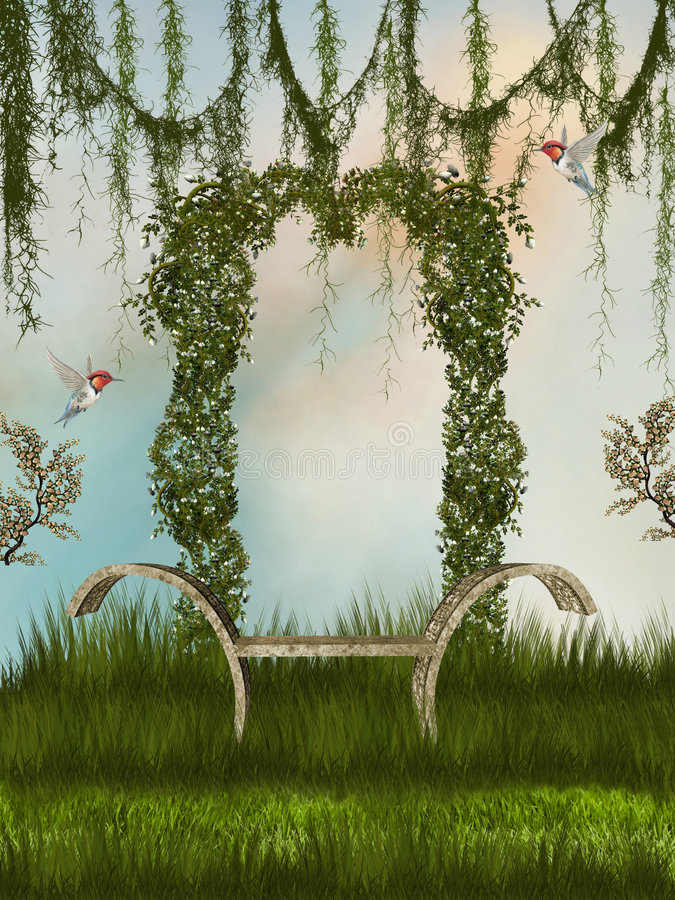 Canopie. Secret place in the garden