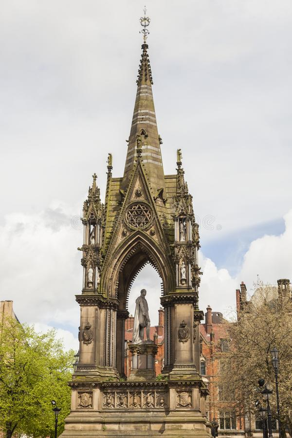 Canopied Statue of Prince Albert in Manchester royalty free stock image