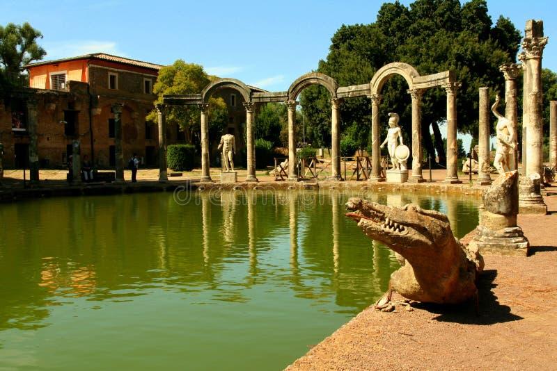 Canopo - Villa Adriana stock afbeeldingen