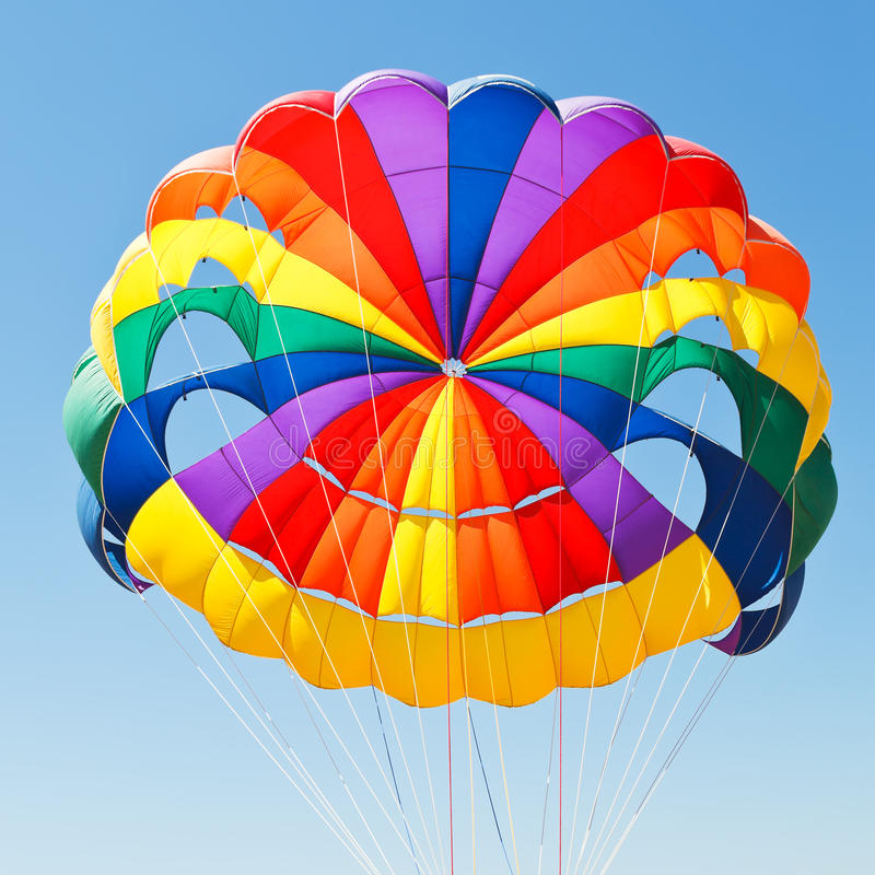 Download Canopy Of Parachute For Parasailing Stock Photo - Image of entertainment attraction 43630824 & Canopy Of Parachute For Parasailing Stock Photo - Image of ...