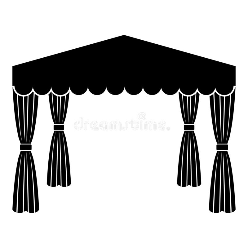 Canopy Pop up tent Commercial pavilion Awning for rest Marquee Chuppah icon black color vector illustration flat style image royalty free illustration