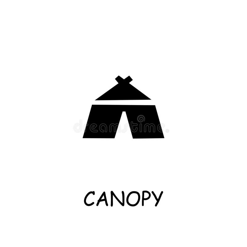Canopy Tent flat vector icon stock illustration