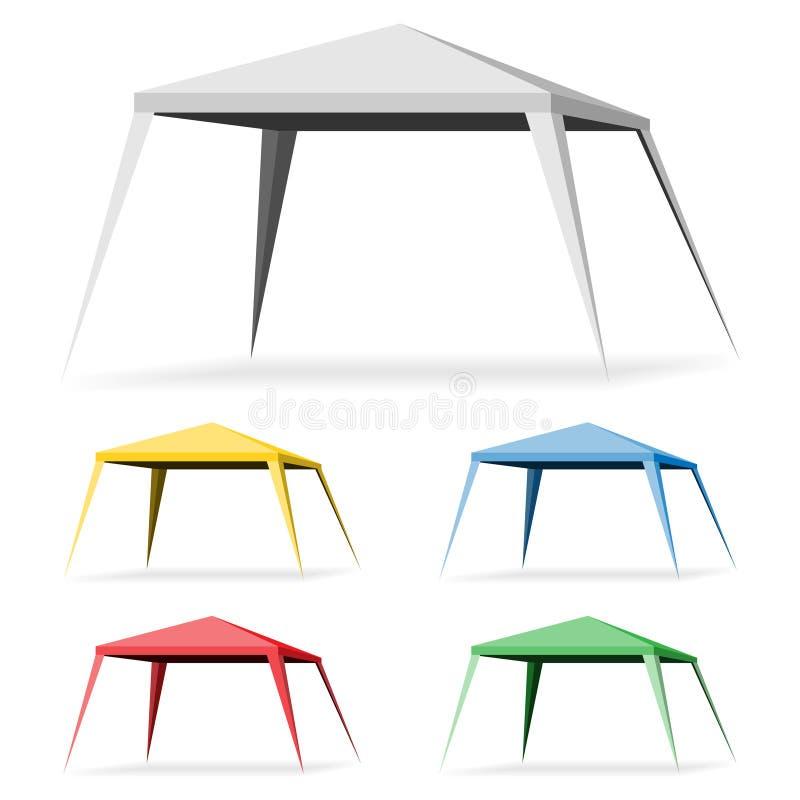 Canopy Tent. On a white background. Set Gazebo Icon Illustration vector illustration