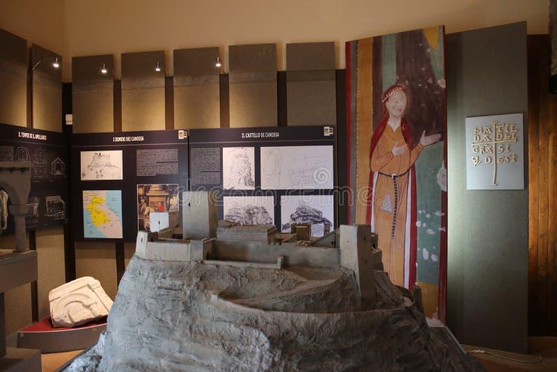 Canossa, Italia, Matilde del museo de Canossa, lugar turístico en Reggio Emilia foto de archivo libre de regalías