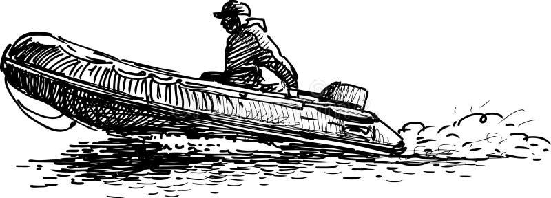 Canot illustration libre de droits