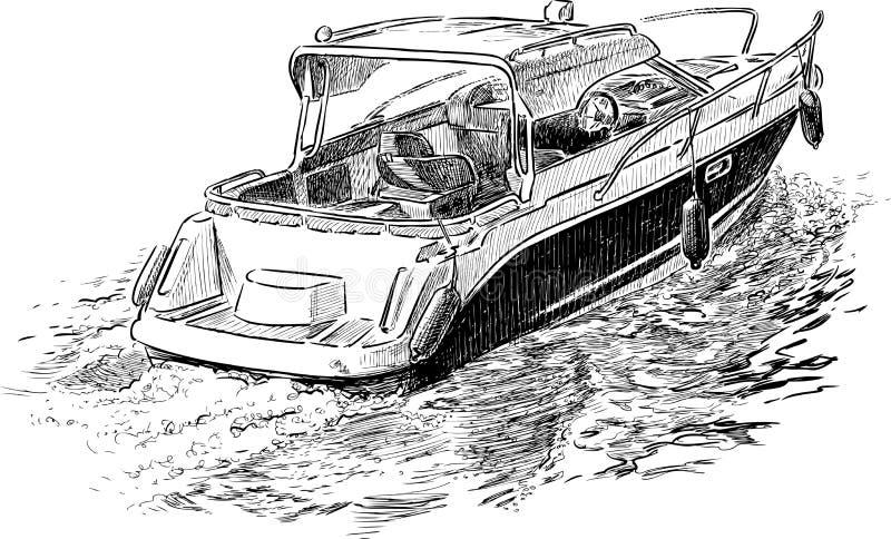 Canot automobile de plaisir illustration de vecteur