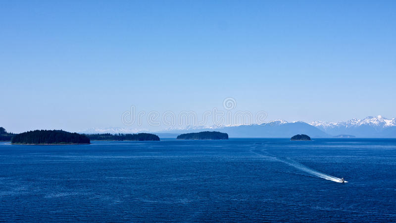 Canotage Alaska photographie stock