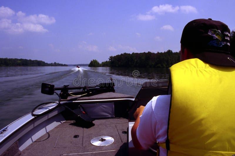 Canotage sur le lac photographie stock