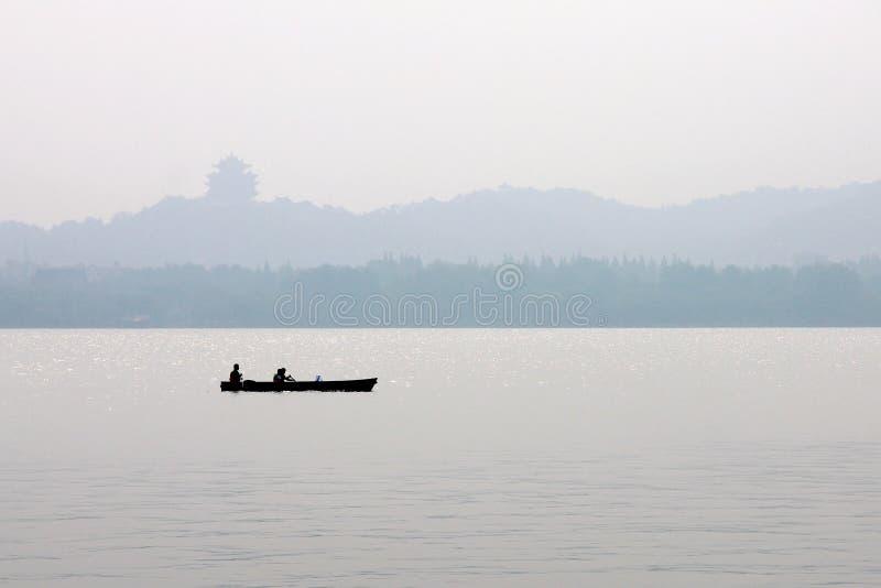 Canotaje en el lago del xihu