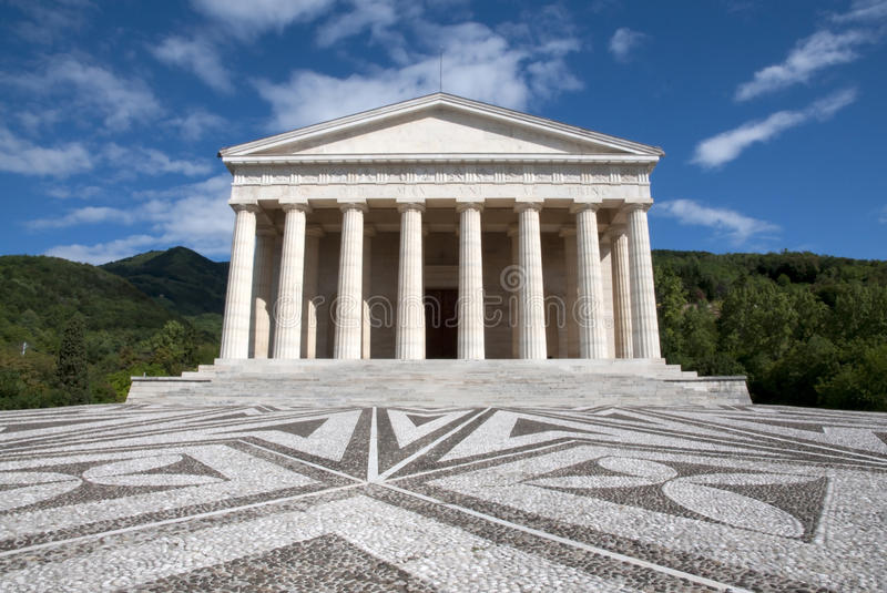 Canova Temple - Possagno, Italy stock images