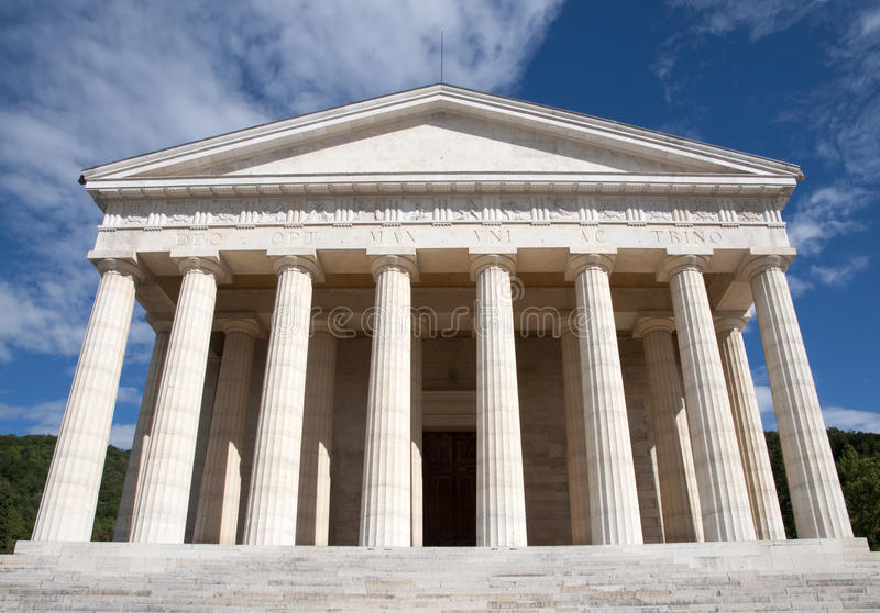 Canova Temple - Possagno, Italy stock images