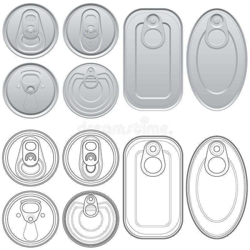 cans vektor illustrationer