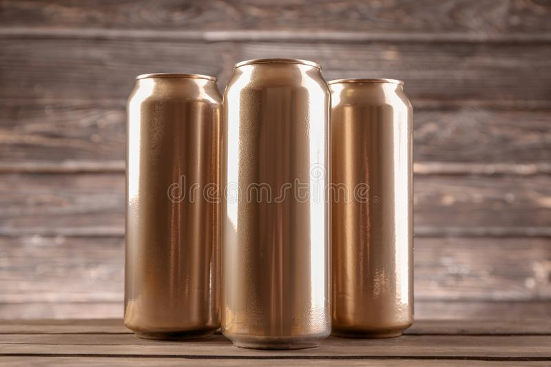Cans of beer royalty free stock photo