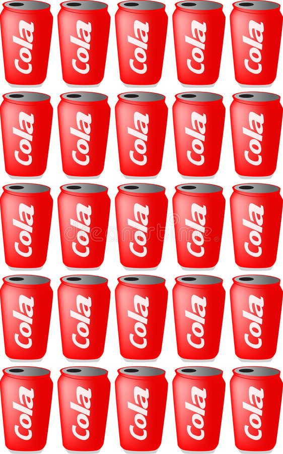 Cans of cola vector illustration