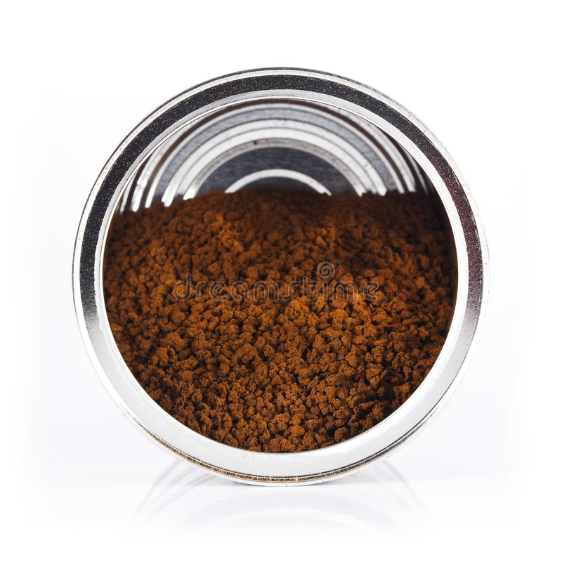 Cans of instant coffee royalty free stock photo