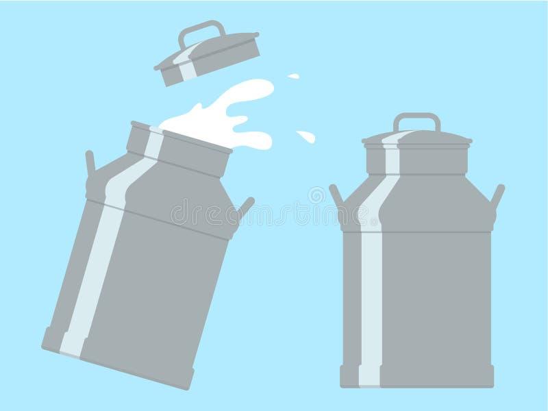cans mjölkar stock illustrationer