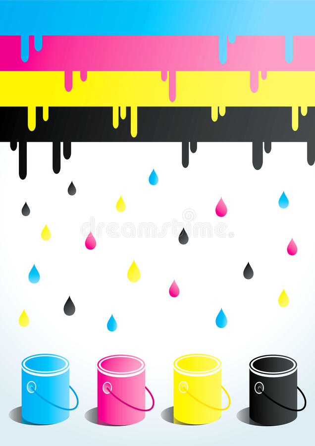 Download Cans of paint stock vector. Image of illustration, palette - 18566352