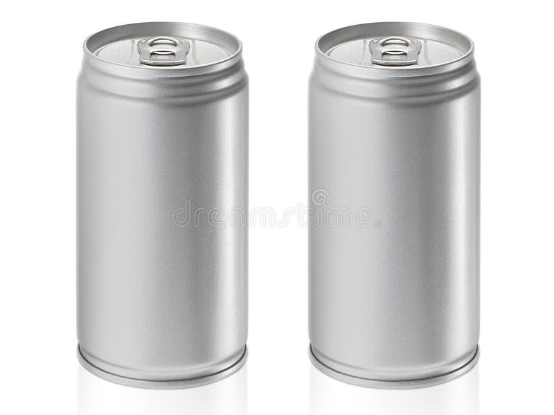 Cans som isoleras på vit bakgrund royaltyfri foto