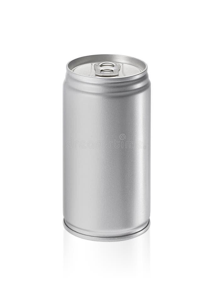 Cans som isoleras på vit bakgrund royaltyfria bilder