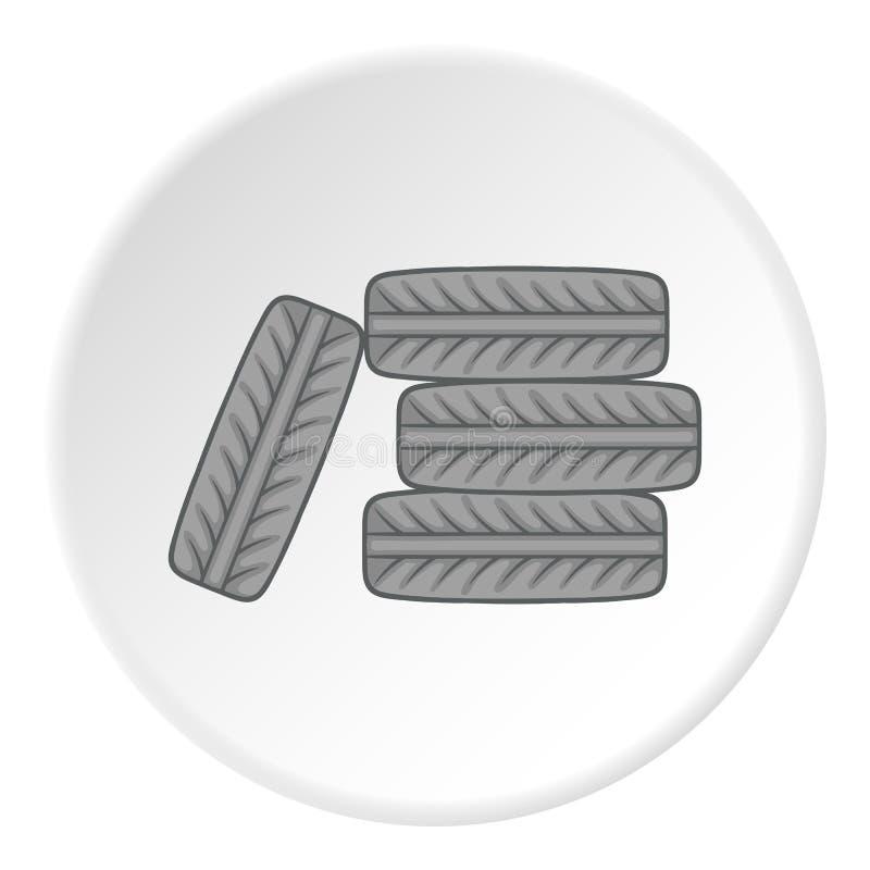 Cansa o ícone, estilo dos desenhos animados ilustração do vetor